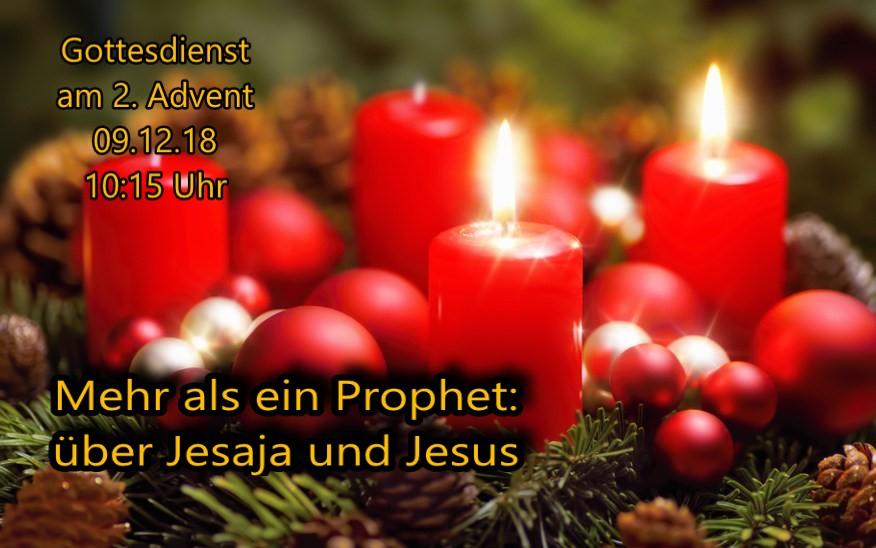 Mehr als ein Prophet - über Jesaja und Jesus