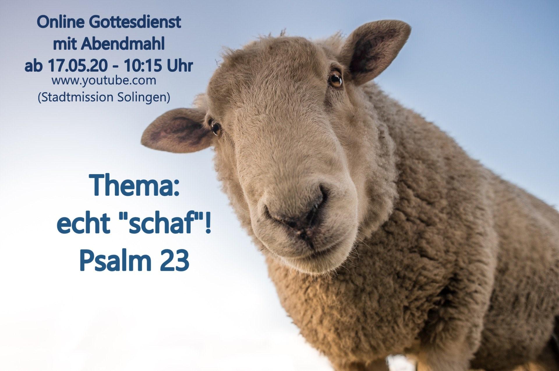 Echt Schaf - Online-Gottesdienst vom 17.05.2020
