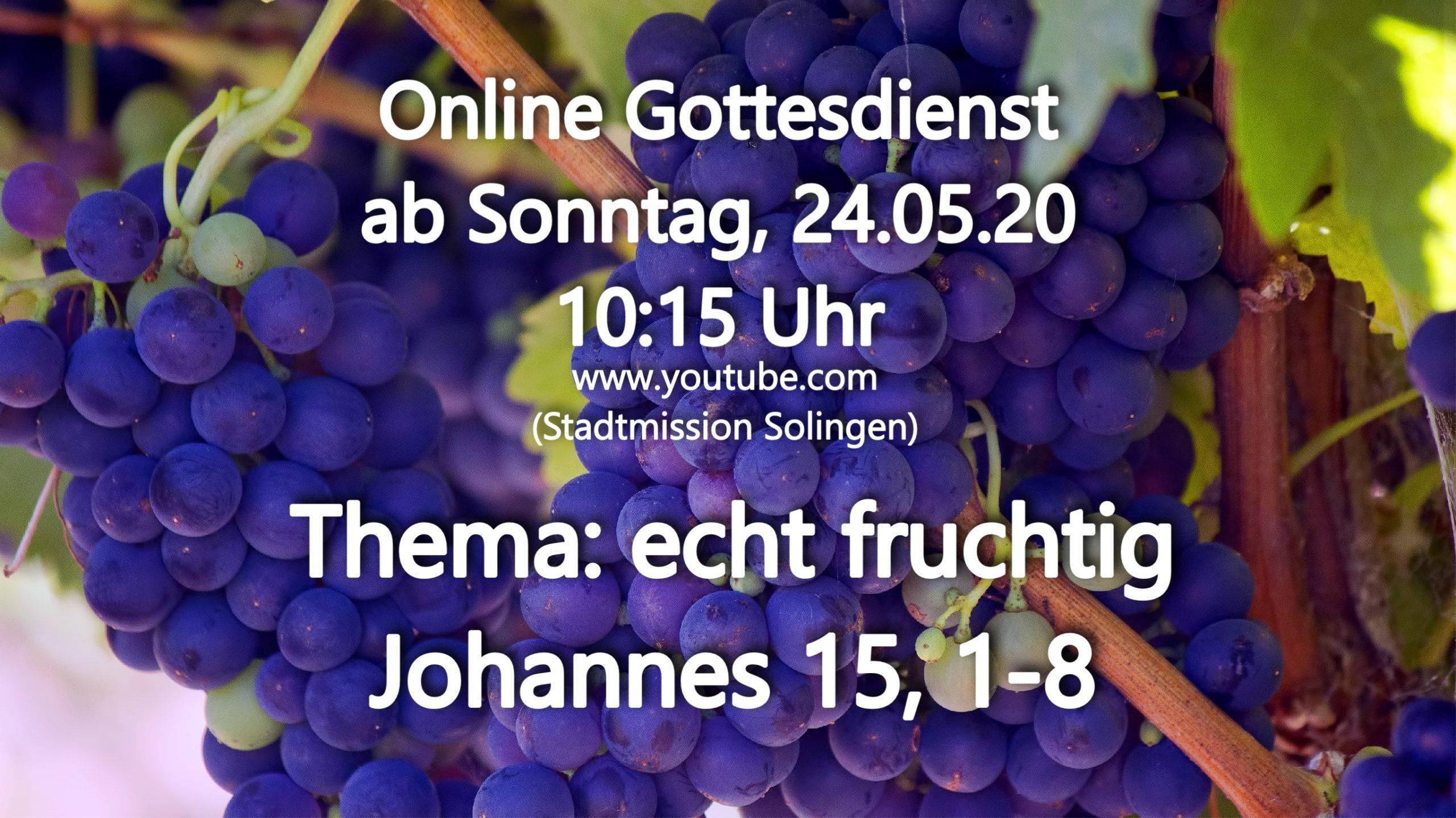 Online-Gottesdienst vom 24.05.2020