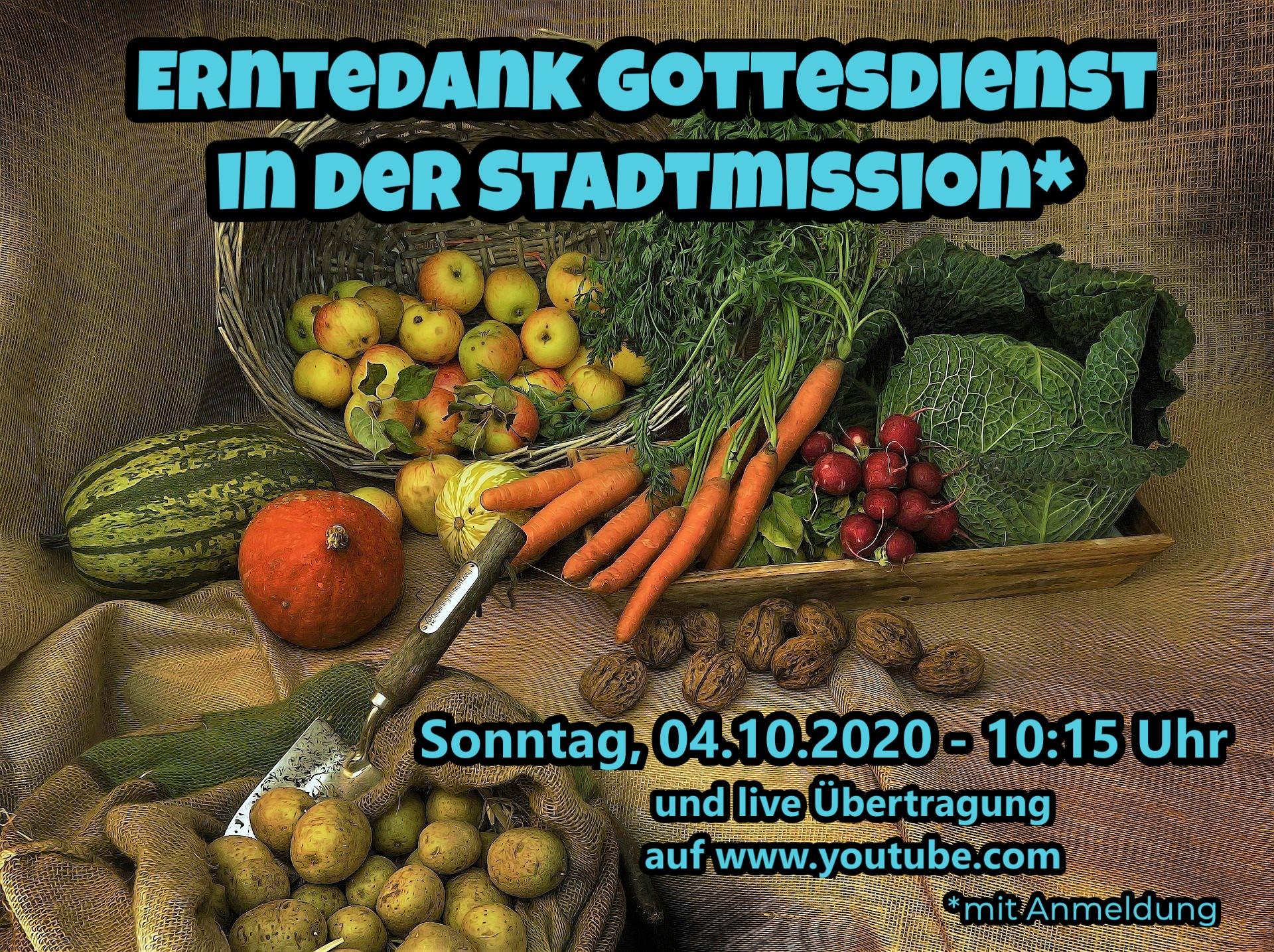 Erntedank-Gottesdienst vom 04.10.2020
